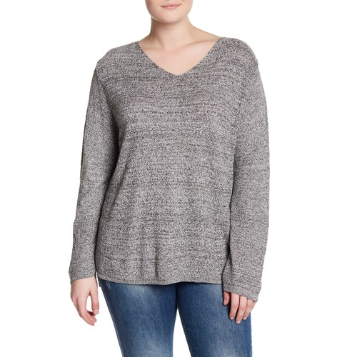 Marled Pullover Sweater (Plus Size)