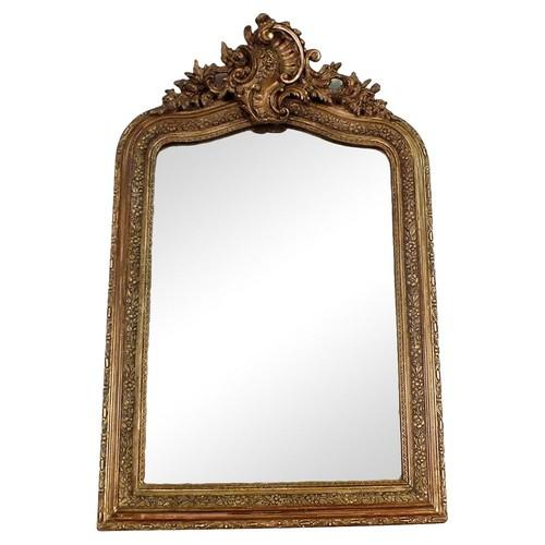 e-19th-C. Gilt French Wall Mirror