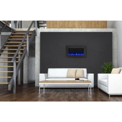 NAPOLEON 42 in. Wall-Mount Linear Electric Fireplace in Black