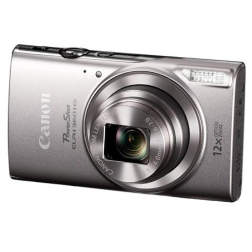 Canon PowerShot ELPH HS 360 Digital Camera and Free Accessories, Silver 1078C001 A