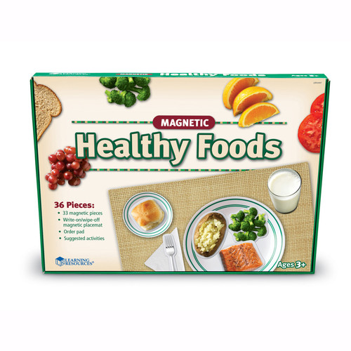 Learning Resources Magnetic Healthy Foods 34 Pcs