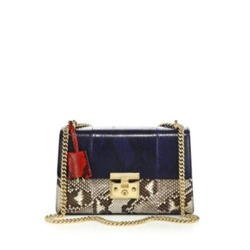 GUCCI Padlock Python Shoulder Bag