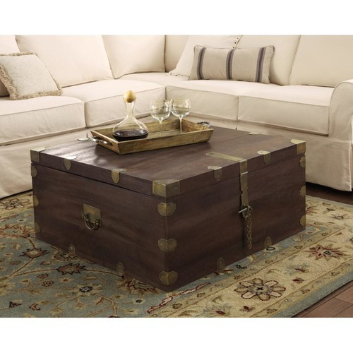Home Decorators Collection Langston Dark Caffe Built-In Storage Coffee Table