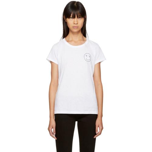 RAG & BONE White Love Face T-Shirt