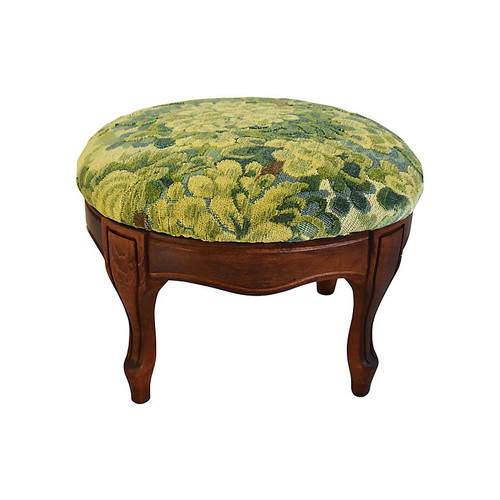 Mike Seratt of The Prized Pig Scalamandr Marly Footstool
