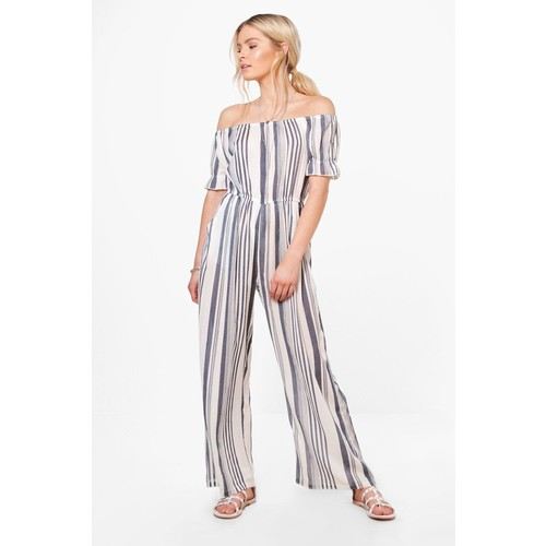 Tasha Striped Culotte Jumpsuit