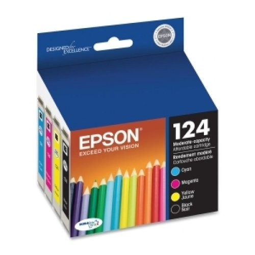 Epson T124120-BCS DURABrite Ultra Black and Color Combo Pack Moderate Capacity Cartridge Ink