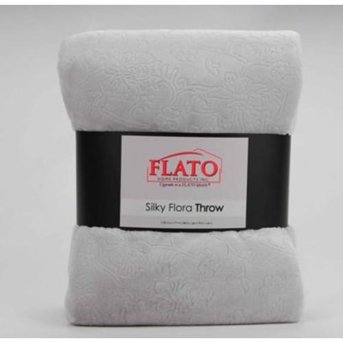 Flato Home Silky Flora Throw Blanket; Teal