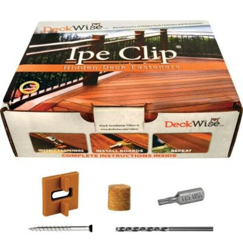 DeckWise Extreme Ipe Clip Brown Biscuit Style Hidden Deck Fastener Kit for Hardwoods (175-Pack)