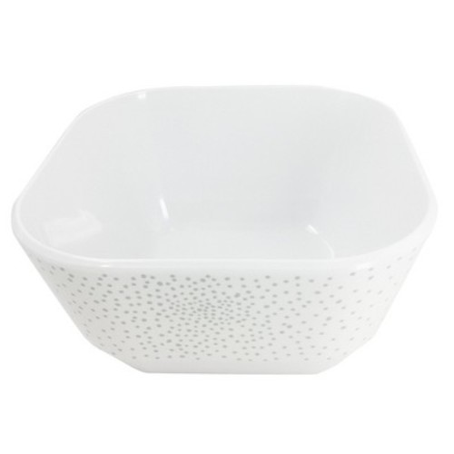 Rounded Square Melamine Polka Dot 45oz Bowl Washed Indigo - Room Essentials