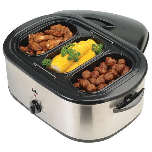 Elite - Platinum 18-Quart Roaster Oven - Stainless-Steel