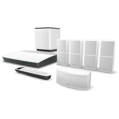 Lifestyle 600 Home Theater System with Jewel Cube Speakers (White)
