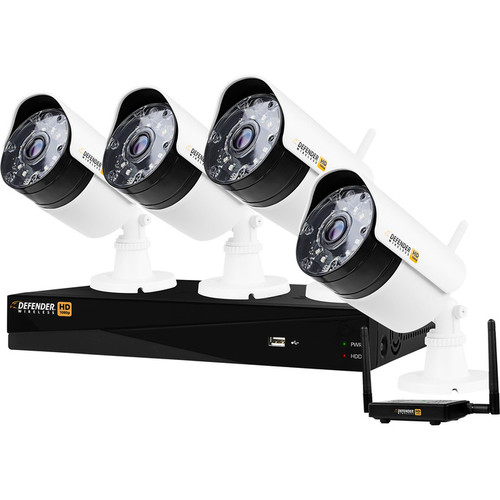 Defender Wireless HD 1080p 4-Channel 1 TB DVR Security System with 4 Bullet Cameras
