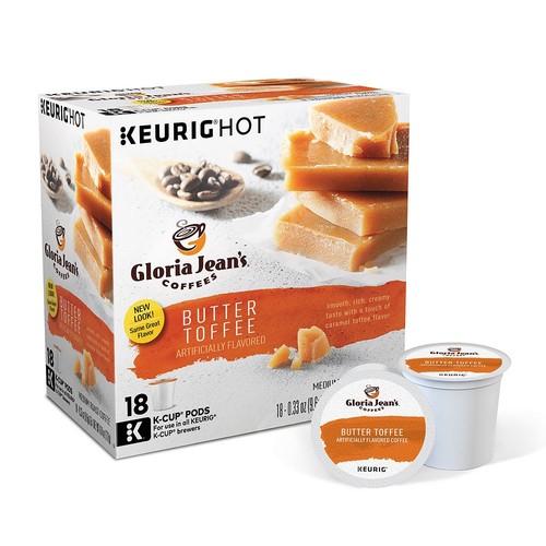 Keurig Gloria Jeans Butter Toffee Medium Coffee K-Cups 18 pk(120227)