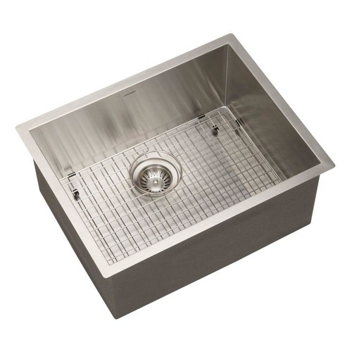 HOUZER Contempo Series Undermount Stainless Steel 23 in. Single Bowl Kitchen Sink