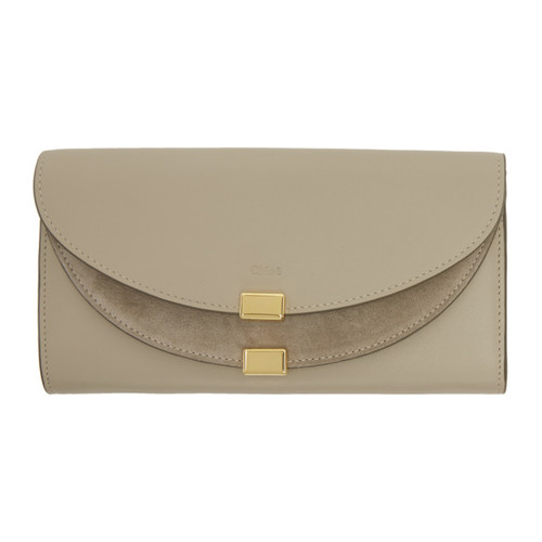 CHLOÉ Grey Long Georgia Flap Wallet