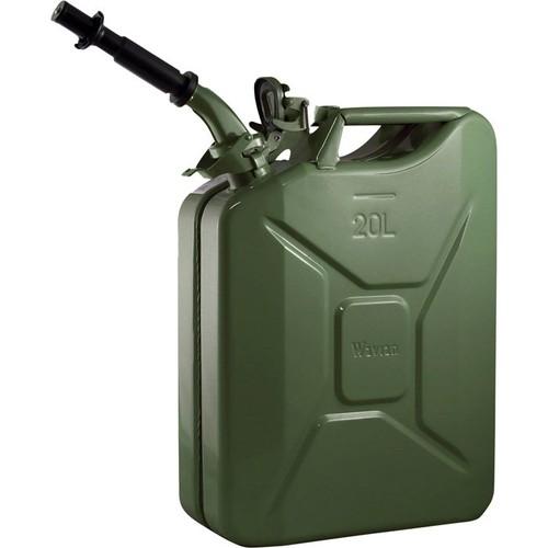 Wavian Leakproof Steel Gas Can  20-Liter, Green, Model# 3008