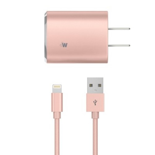 Lightning USB Home Charger 8 Pin Rose Gold - Just Wireless