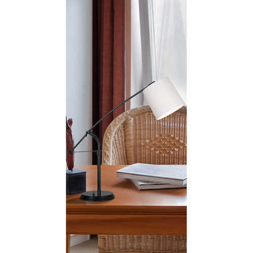 Kenroy Home Reeler 25-36 in. Oil-Rubbed Bronze Adjustable Table Lamp