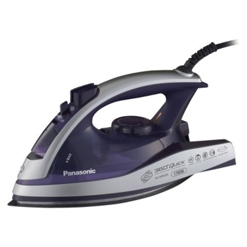 Panasonic 360 Quick Multi-Directional Steam/Dry Iron with Curved Alumite Soleplate