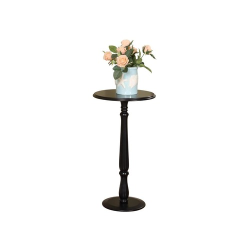 Pilaster Designs - Plant Stand Accent Side End Table, Black Finish