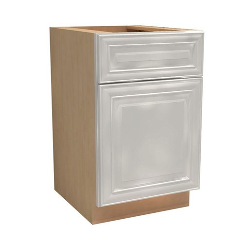 Home Decorators Collection Brookfield Assembled 15x34.5x21 in. Single Door & Drawer Hinge Left Base Vanity Cabinet in Pacific White
