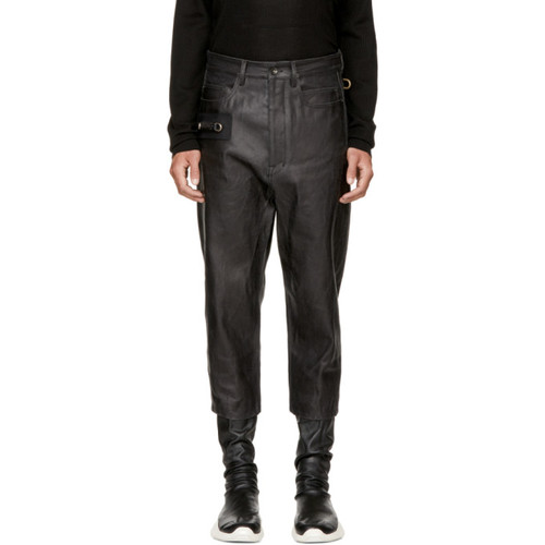 RICK OWENS Black Keyring Astaire Jeans