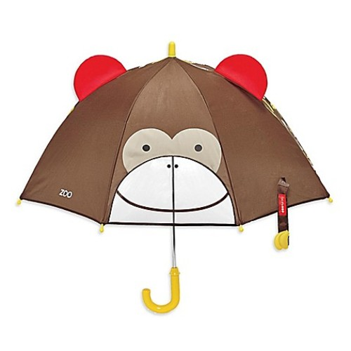 SKIP*HOP Zoobrella Little Kid Monkey Umbrella in Brown