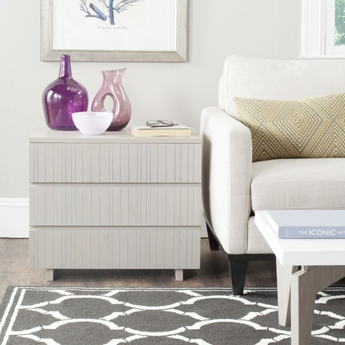 Safavieh Coffee, Console, Sofa & End Tables Safavieh Jorge Grey Storage Cabinet