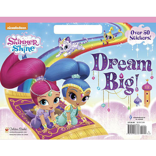 Nickelodeon Shimmer and Shine: Dream Big! Coloring Book with Stickers
