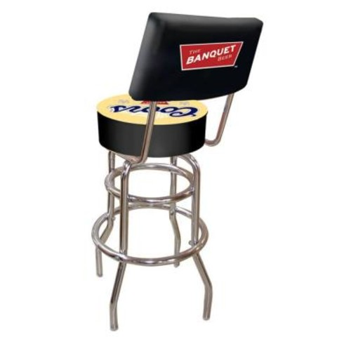 Trademark Coors Banquet 30 in. Chrome Swivel Cushioned Bar Stool