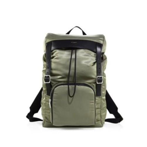 SAINT LAURENT Buckled Flap Backpack