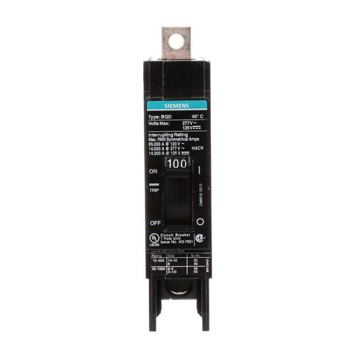Siemens 100 Amp Single-Pole Type BQD Bolt-On Circuit Breaker