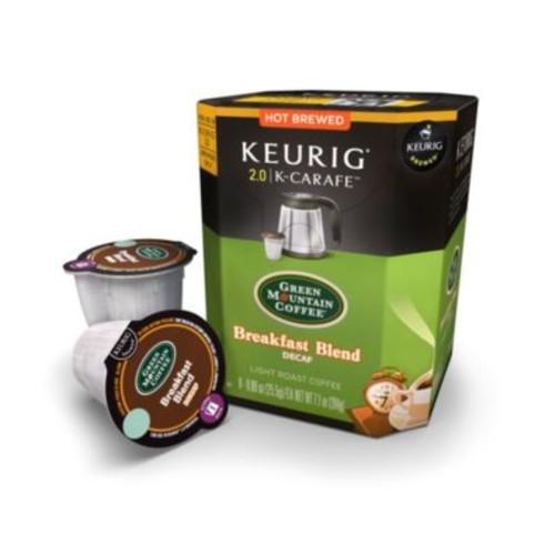 Keurig 2.0 Green Mountain Coffee Breakfast Blend Decaf Coffee 8-pk. K-Carafe Packs