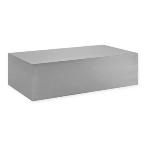 Modway Cast Stainless Steel Coffee Table in Silver