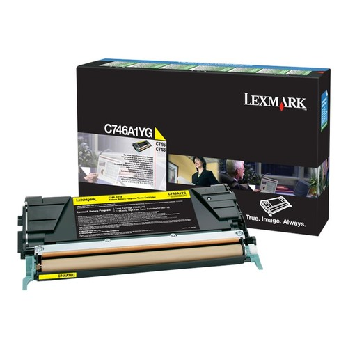 Lexmark C746, C748 Yellow Return Program Toner Cartridge