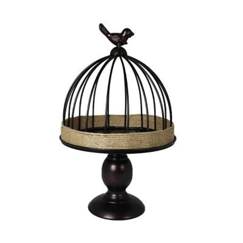 August Grove Modern Metal Decorative Bird Cage; 13.5'' H x 8.27'' W x 8.27'' D