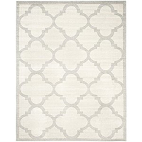 Safavieh Amherst Collection AMT423E Beige and Light Grey Indoor/ Outdoor Area Rug