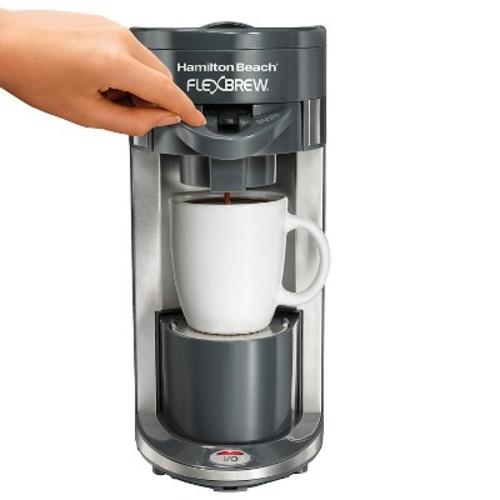 Hamilton Beach - FlexBrew Single-Serve Coffeemaker - Black/Silver