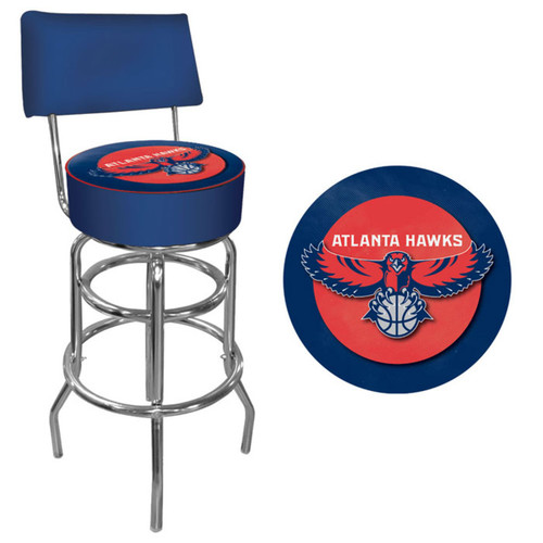 Trademark Atlanta Hawks Nba Padded Swivel Bar Stool With Back NBA1100-AH