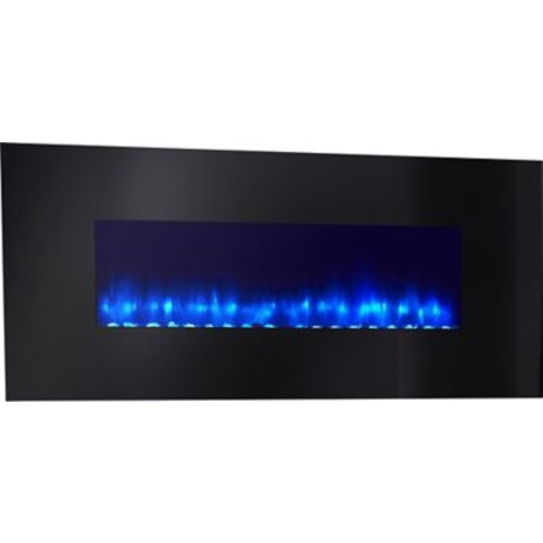 Simplifire Linear Wall Mount Electric Fireplace; Black