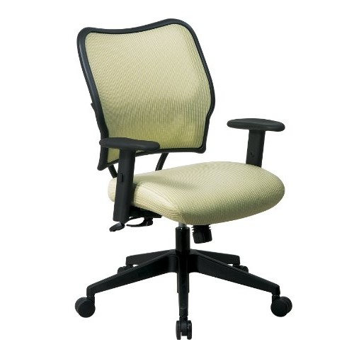 SPACE Seating Deluxe VeraFlex Fabric Seat and Back, 2-to-1 Synchro Tilt Control and 2-Way Adjustable Arms Managers Chair, Kiwi [Kiwi]