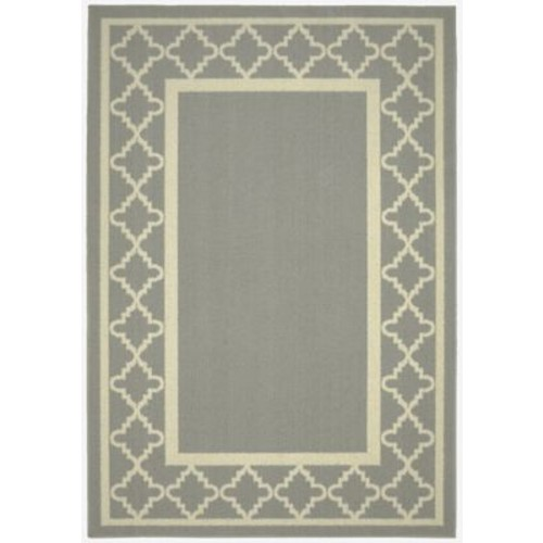 Garland Rug Moroccan Frame Silver/Ivory Area Rug; Runner 2' x 5'