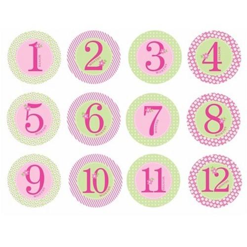 Pearhead Baby Milestone Stickers - Girls'
