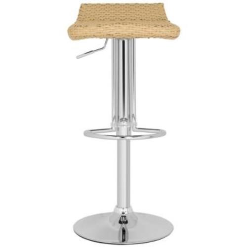 Safavieh Juji Adjustable Height Chrome Bar Stool
