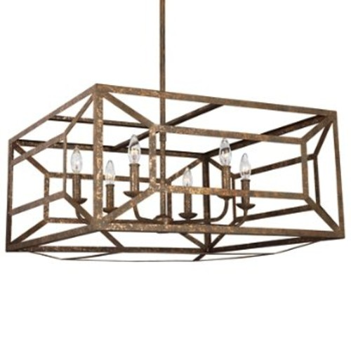 Marquelle 6-Light Chandelier [Finish : Distressed Gold Leaf]