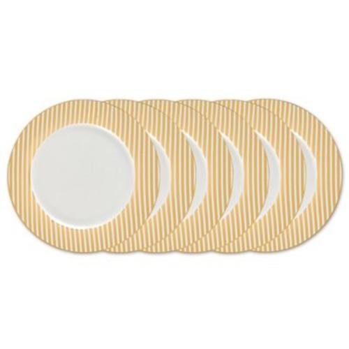 Certified International Elegance Gold Dinner Plates (Set of 6)