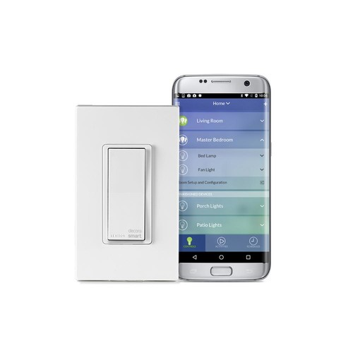 Leviton Decora Smart Wi-Fi 15 Amp Universal LED/Incandescent Switch, Works with Amazon Alexa and Google (5-Pack)