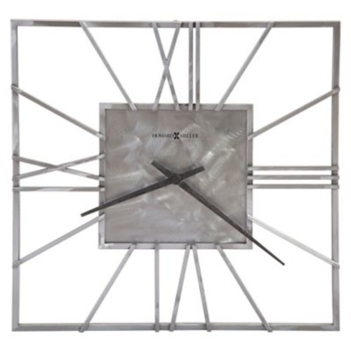 Howard Miller Lorain Square Wall Clock in Steel