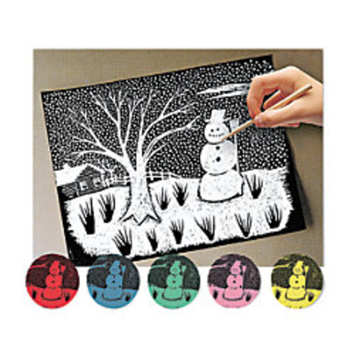 Melissa & Doug Scratch Art Paper, Pack Of 60 Sheets, Assorted Colors
